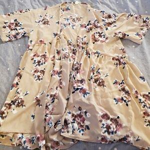 Pinkblush maternity kimono